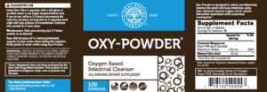 Oxy-Powder Supplement Label